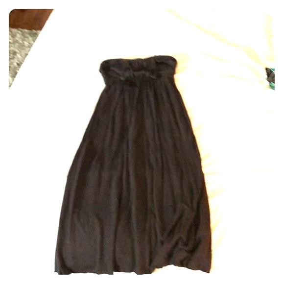 Matty Cloth Designs   Matty M Dresses Designer Strapless Gray Brown Dress Poshmark